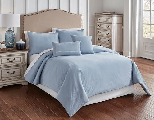 Nevan Blue 5 Pc King Comforter Set
