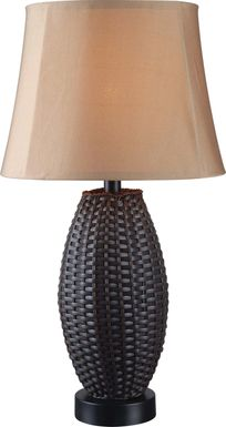 New Bern Black Outdoor Table Lamp