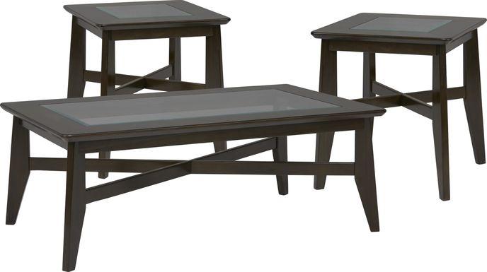 New London Espresso 3 Pc Table Set