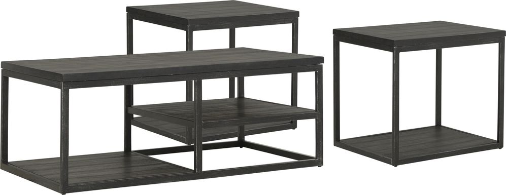 Newkirk Gray 3 Pc Table Set