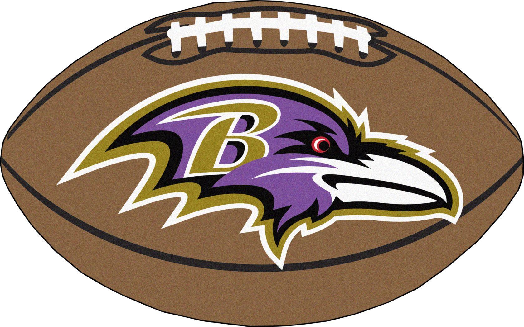 "NFL Football Mascot Baltimore Ravens 1'6"" x 1'10"" Rug"