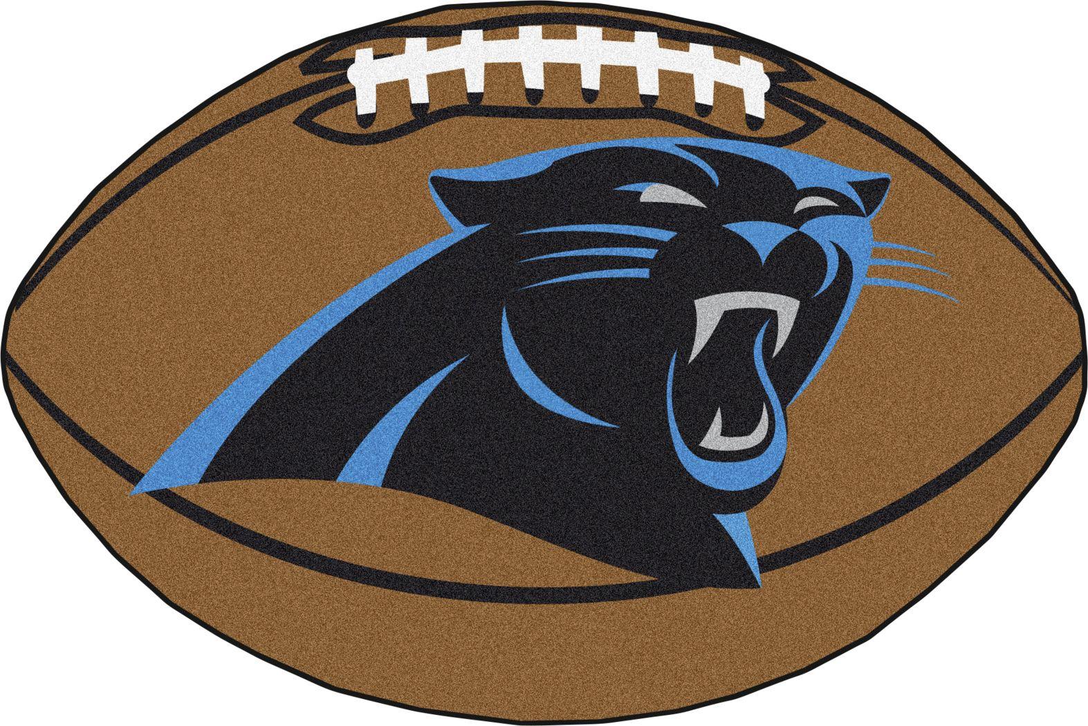 NFL Football Mascot Carolina Panthers 1'6 x 1'10 Rug