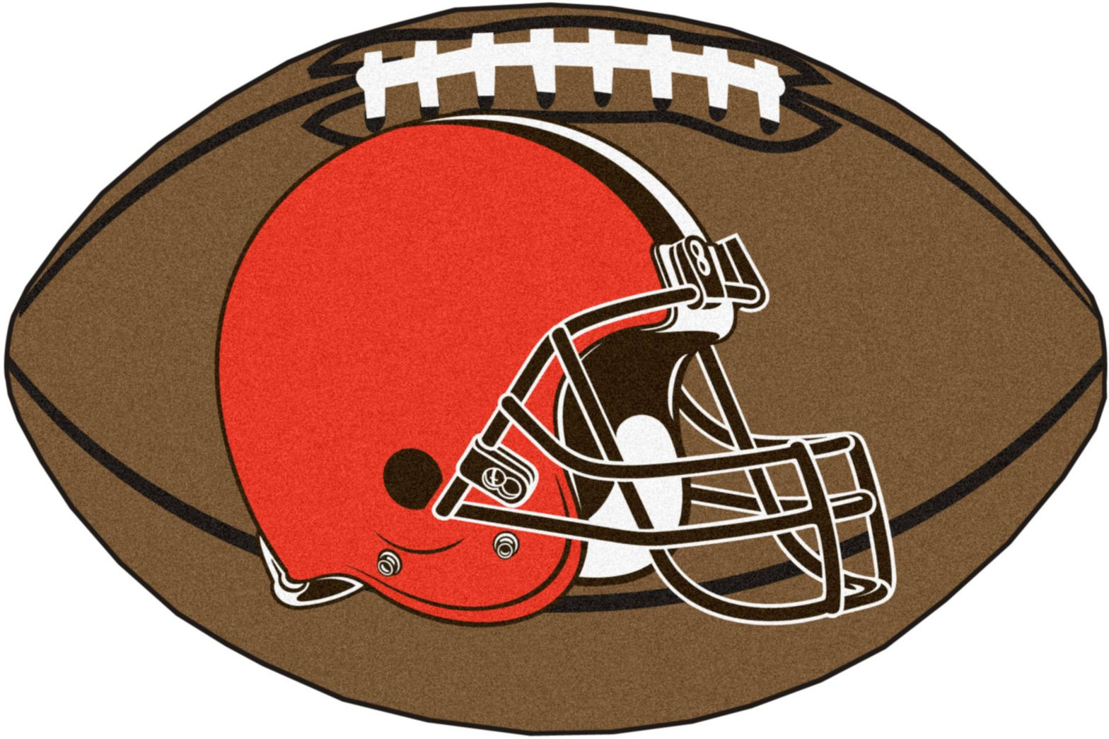 "NFL Football Mascot Cleveland Browns 1'6""x 1'10"" Rug"