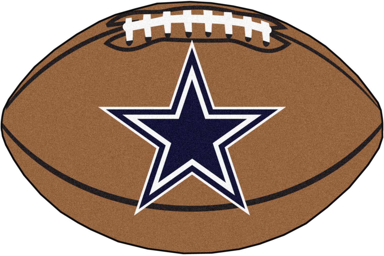 "NFL Football Mascot Dallas Cowboys 1'6""x 1'10"" Rug"