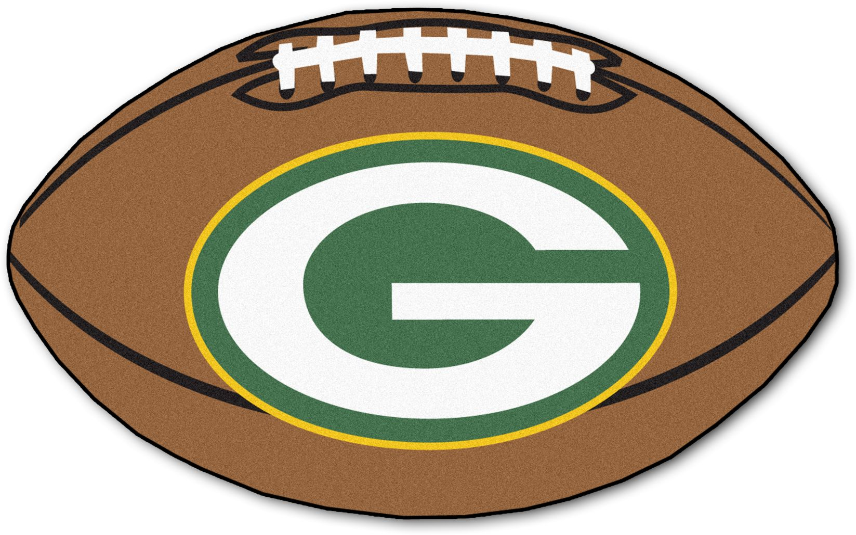 "NFL Football Mascot Green Bay Packers 1'6""x 1'10"" Rug"