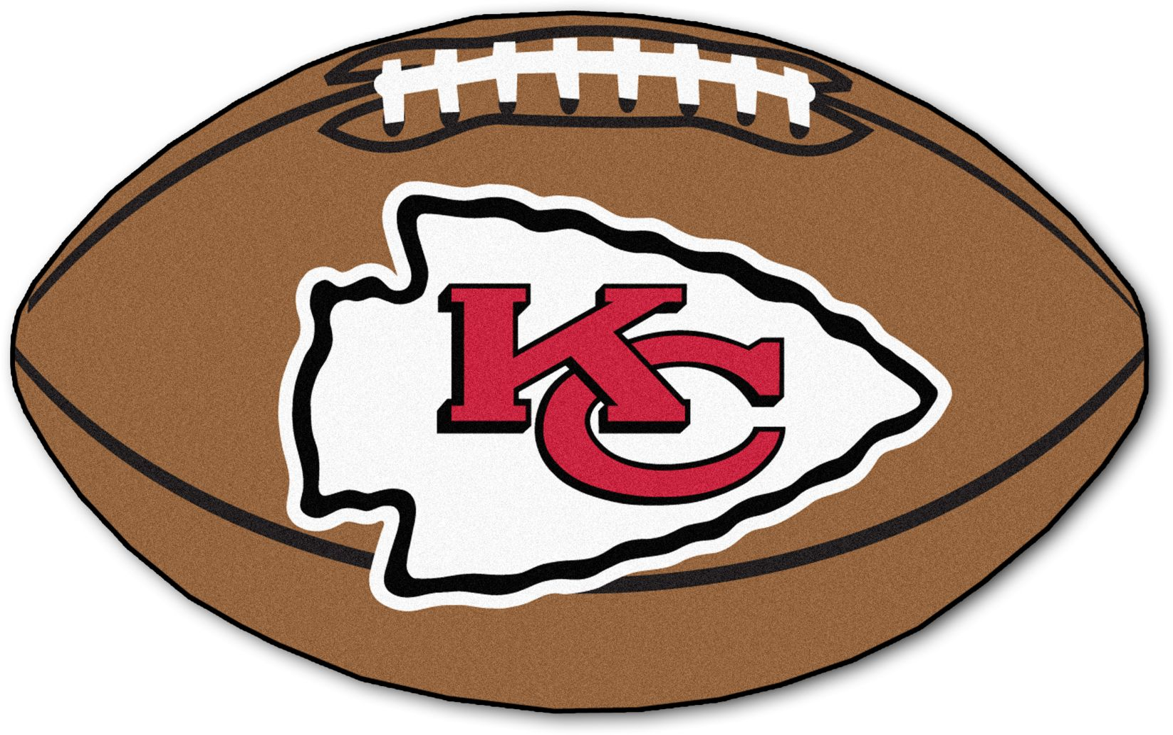 "NFL Football Mascot Kansas City Chiefs 1'6""x 1'10"" Rug"