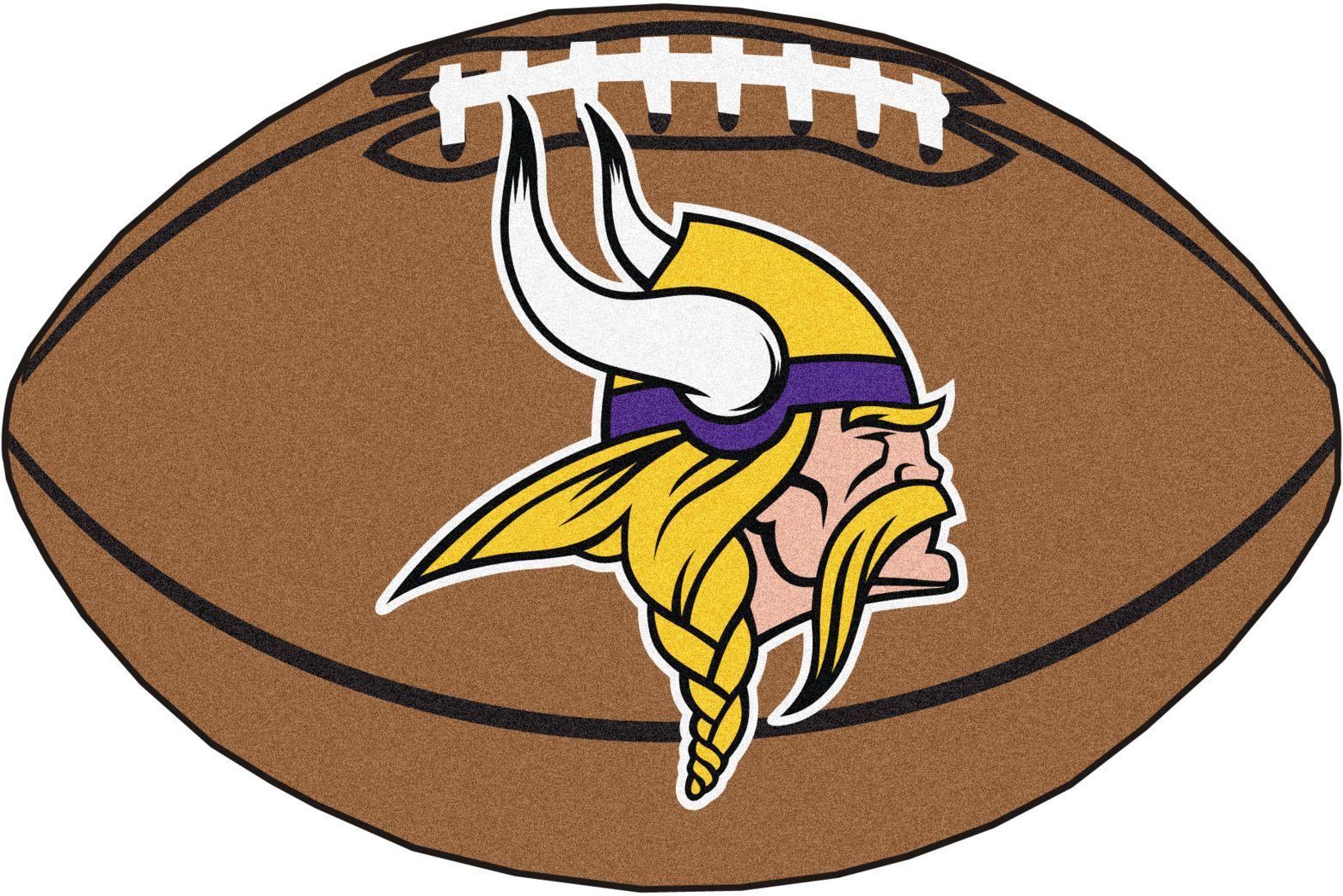 "NFL Football Mascot Minnesota Vikings 1'6""x 1'10"" Rug"