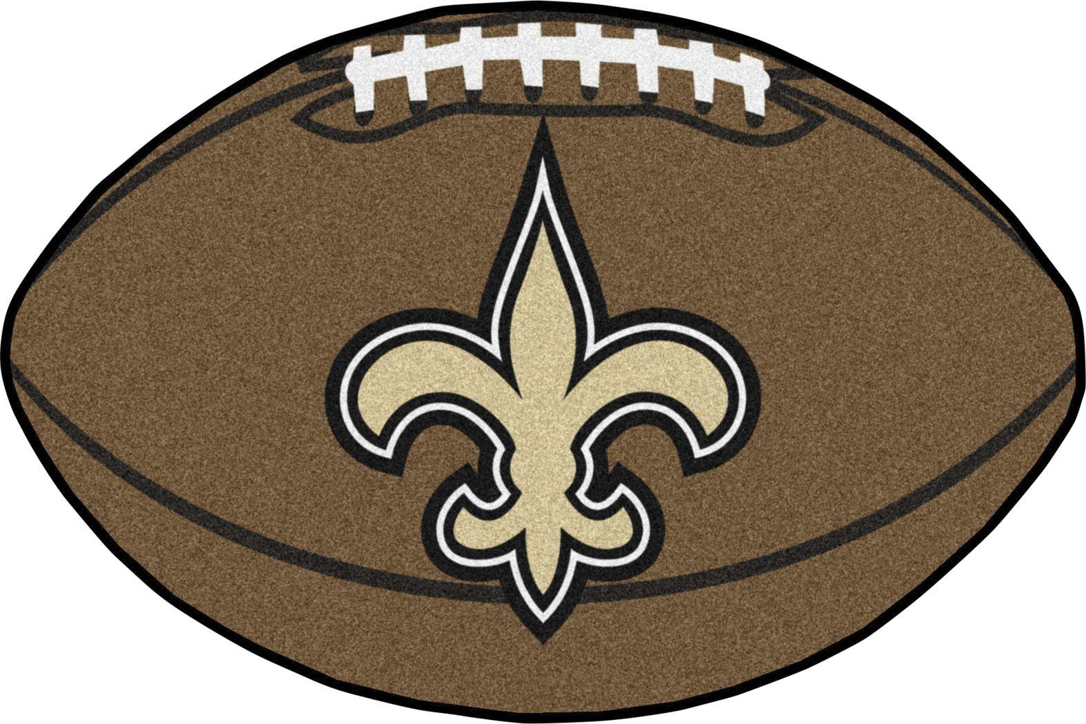 "NFL Football Mascot New Orleans Saints 1'6""x 1'10"" Rug"