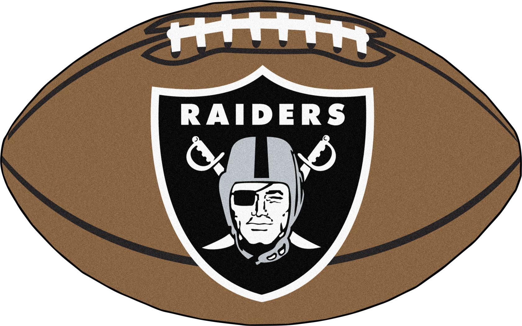 "NFL Football Mascot Oakland Raiders 1'6"" x 1'10"" Rug"