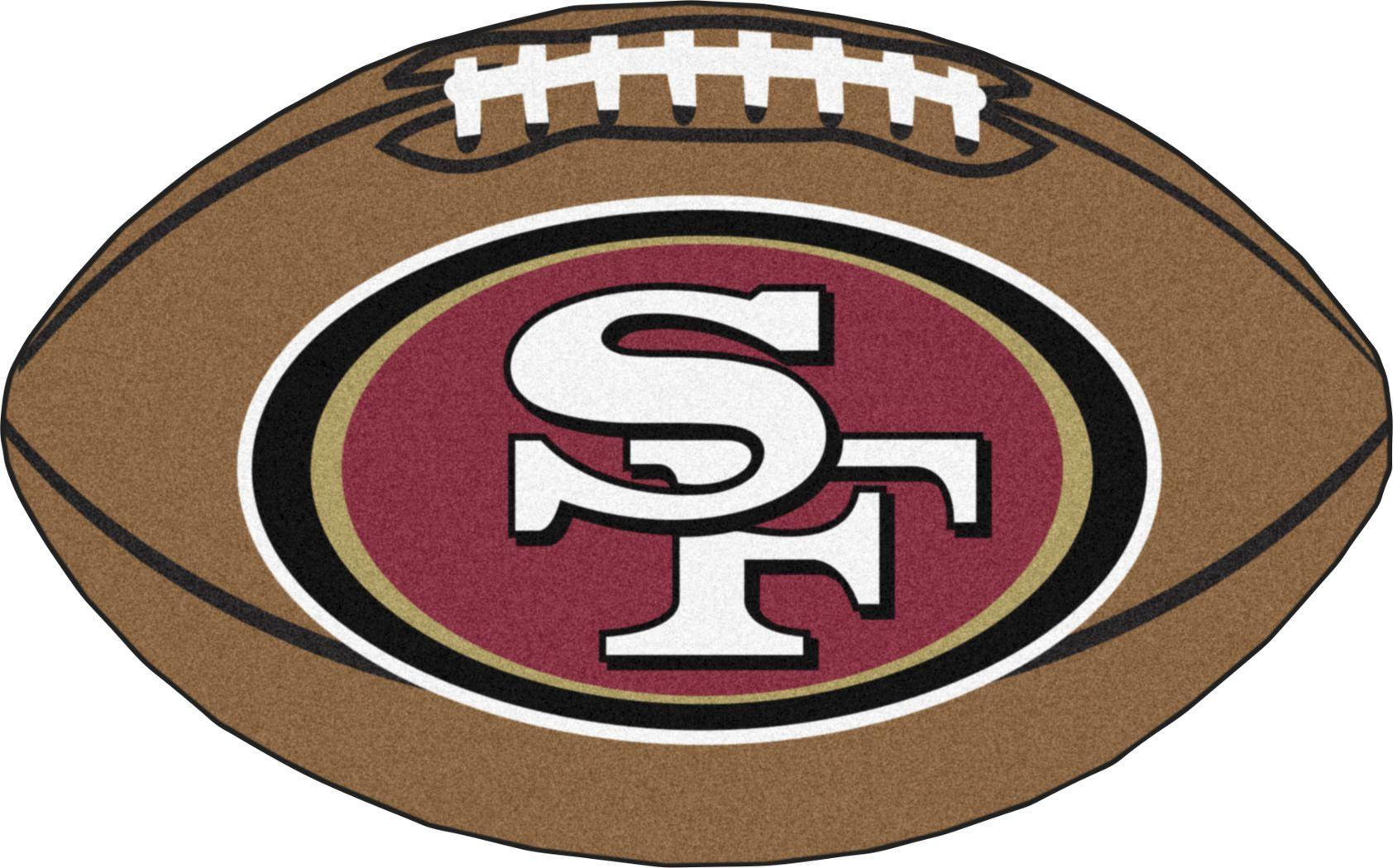 "NFL Football Mascot San Francisco 49ERS 1'6"" x 1'10"" Rug"