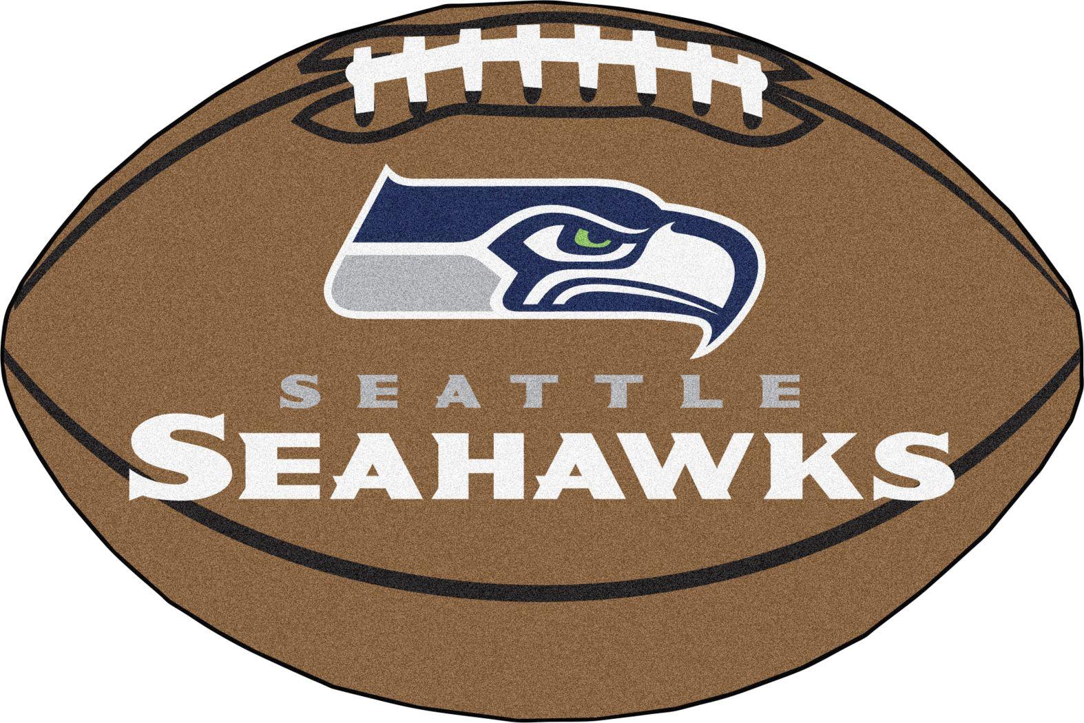 "NFL Football Mascot Seattle Seahawks 1'6"" x 1'10"" Rug"