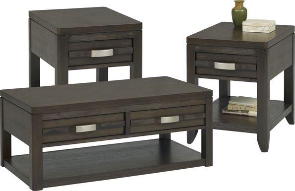 Niccolo Brown 3 Pc Table Set