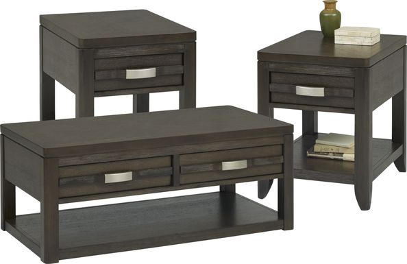 Niccolo Brown 3 Pc Table Set