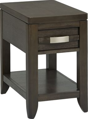 Niccolo Gray Chairside Table