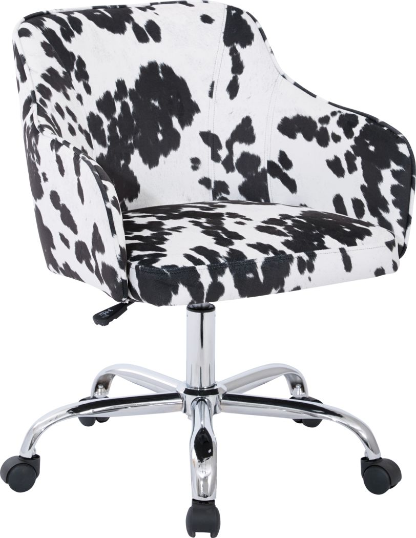 Nikitta Black/White Office Chair