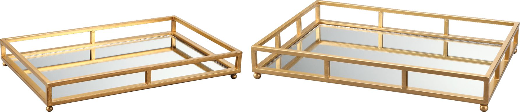 Nimitz Gold Trays Set of 2