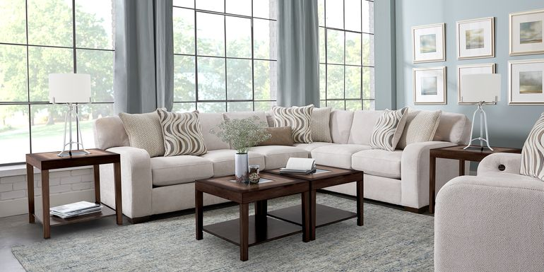 Nob Hill Beige 2 Pc Sectional