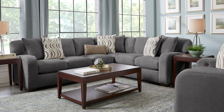 Nob Hill Gray 2 Pc Sectional