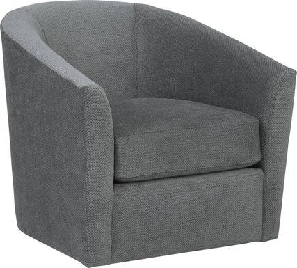 Nob Hill Gray Swivel Chair