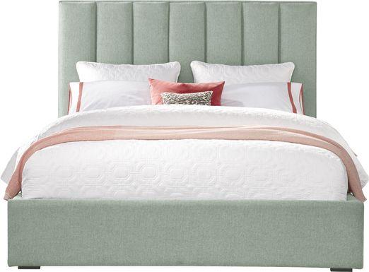 Noelle Mint 3 Pc King Upholstered Bed