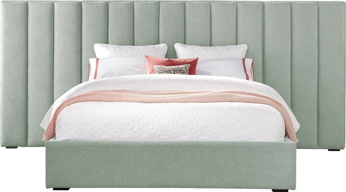 Noelle Mint 5 Pc King Upholstered Wall Bed