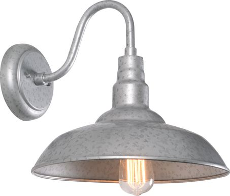 Nogales Silver Outdoor Large Wall Sconce