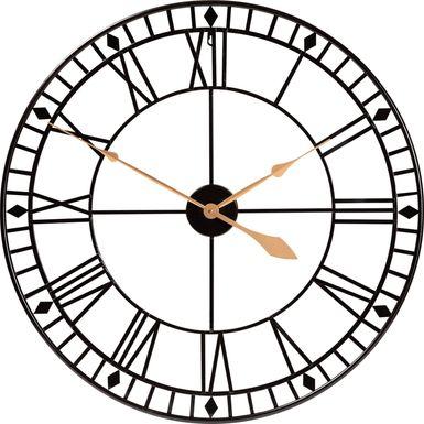 Nonie Gold Wall Clock
