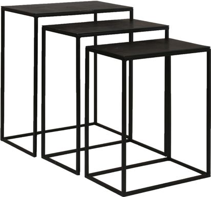 Norlake Black Nesting Tables, Set of 3