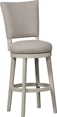 Norrie Beige Swivel Counter Height Stool