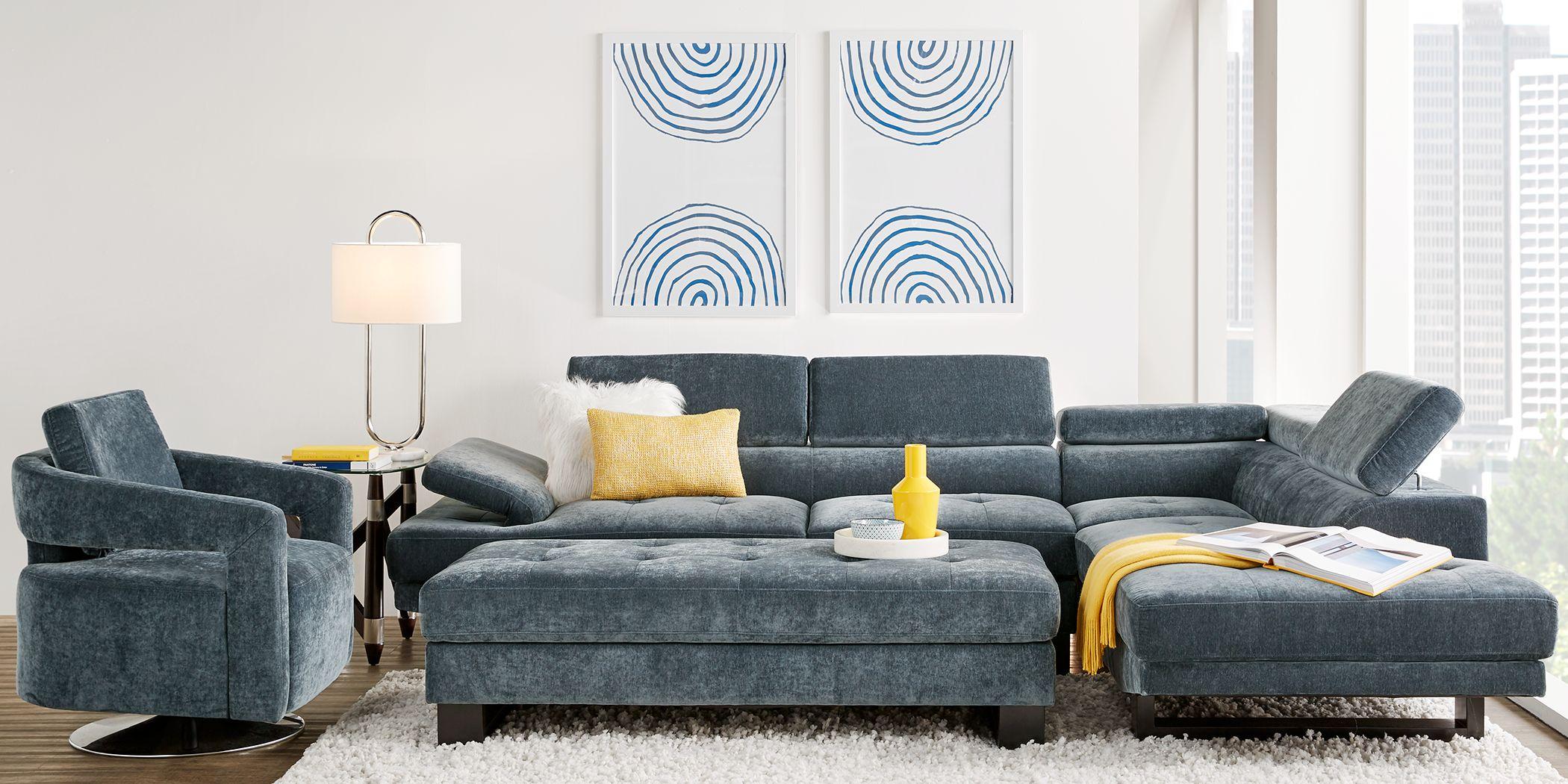 Northside Ocean 3 Pc Sectional Living Room