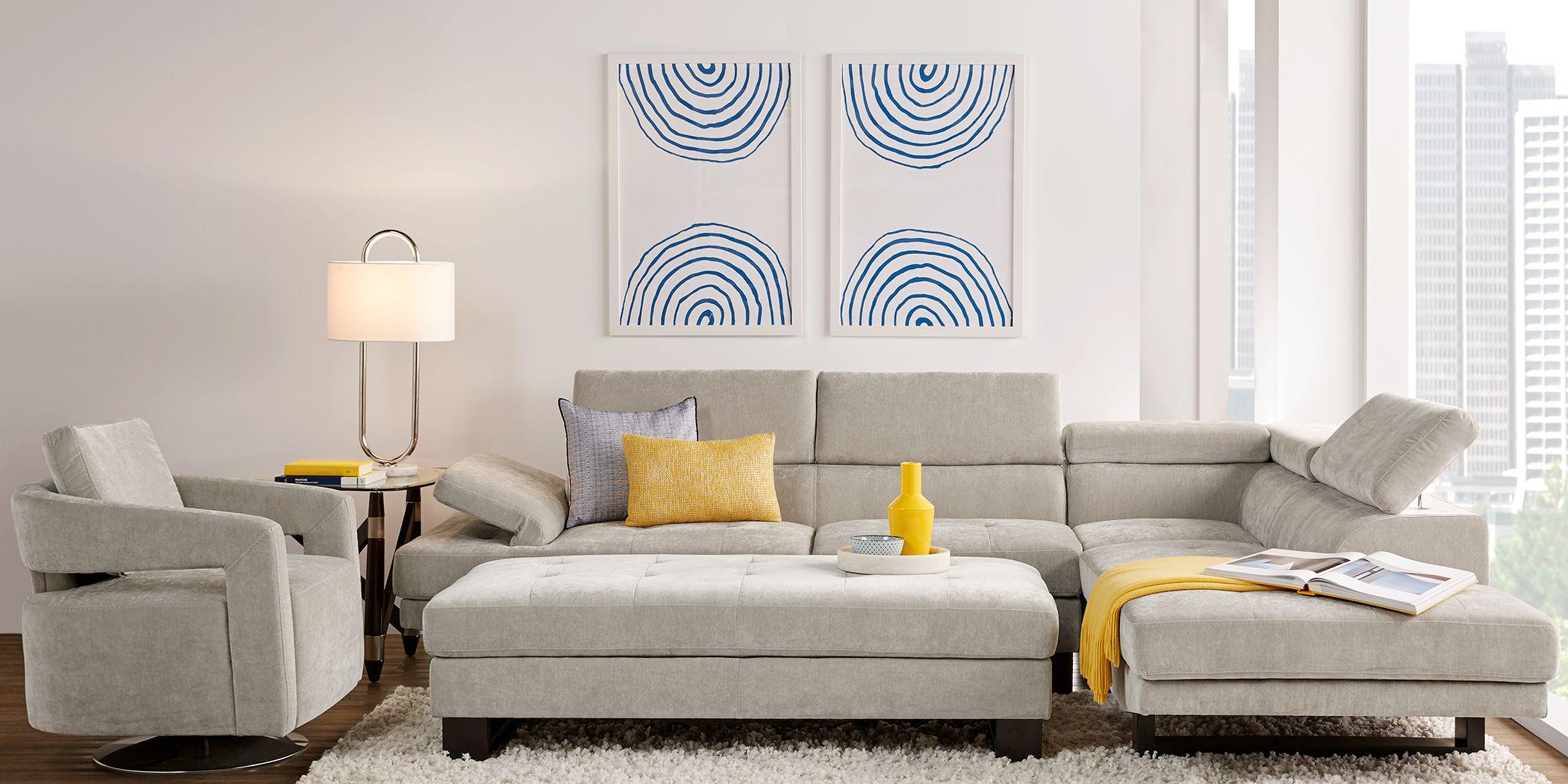 Northside Platinum 3 Pc Sectional Living Room