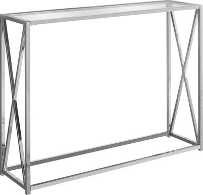 Nottoway Chrome Console Table