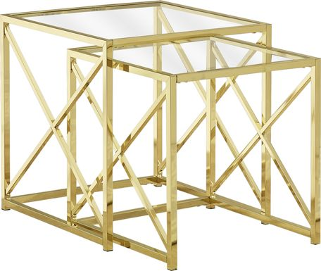 Nottaway Gold Set of 2 Nesting Tables