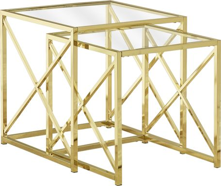 Nottaway Gold Set of 2 Nesting Tables