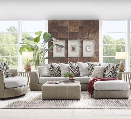 Novelia Beige 5 Pc Sectional Living Room
