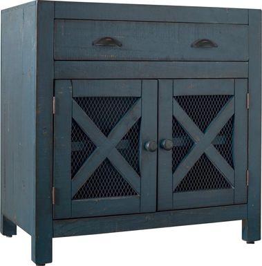Noxubee Blue Accent Cabinet