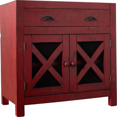 Noxubee Red Accent Cabinet