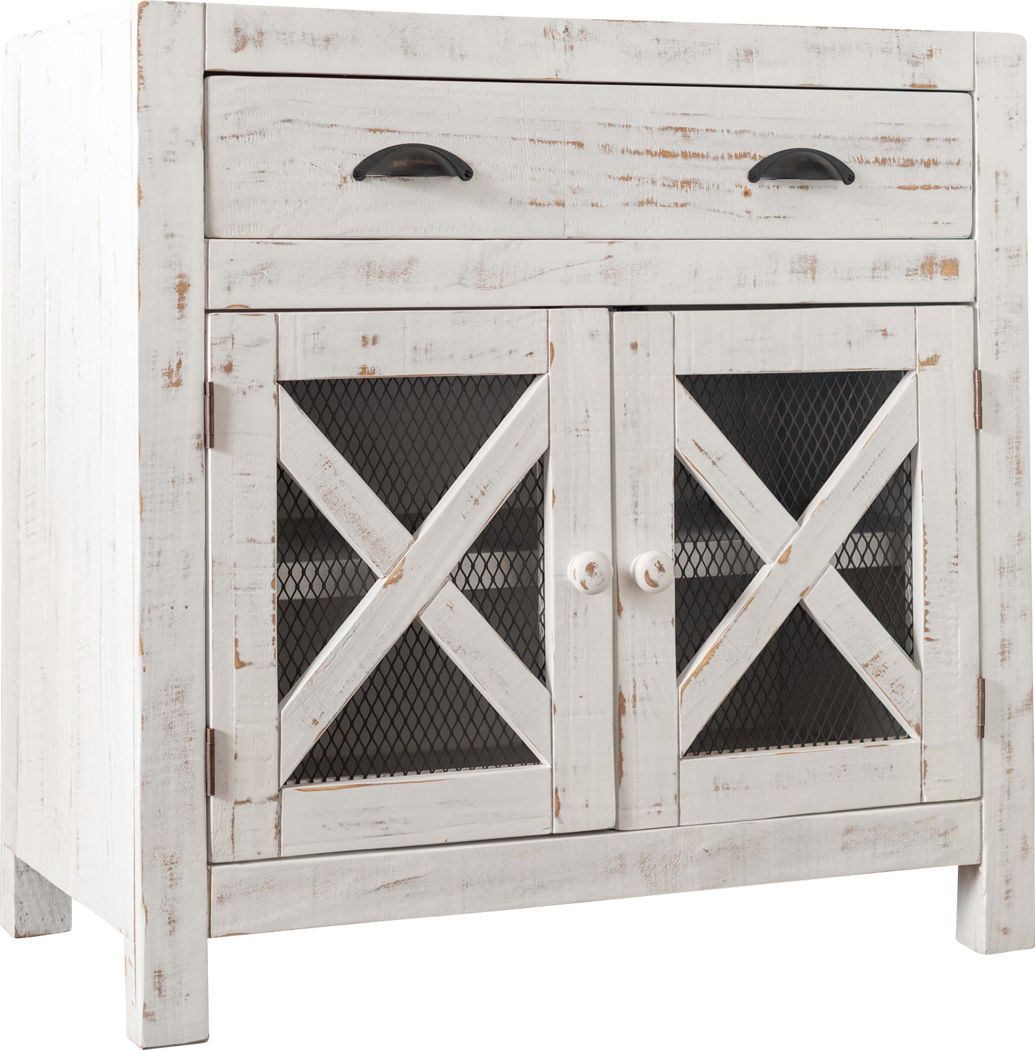 Noxubee White Accent Cabinet