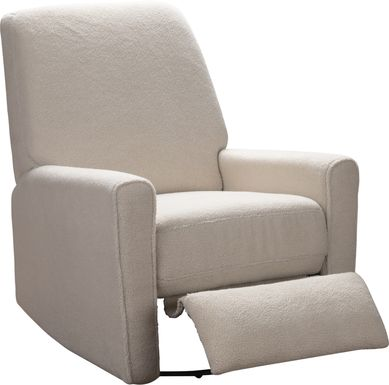 Nursery Dreamy Notes Ecru Swivel Rocker Recliner