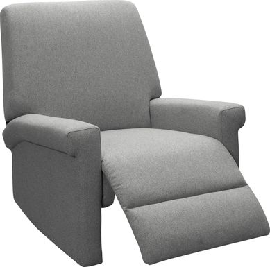 Nursery Lyrical Lullaby Gray Swivel Rocker Recliner