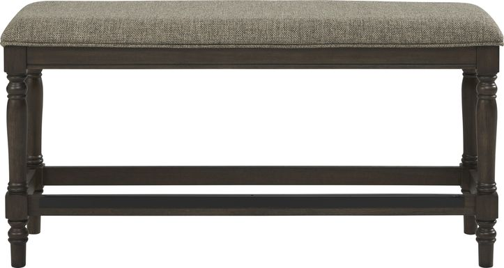 Oakdale Brown Counter Height Bench