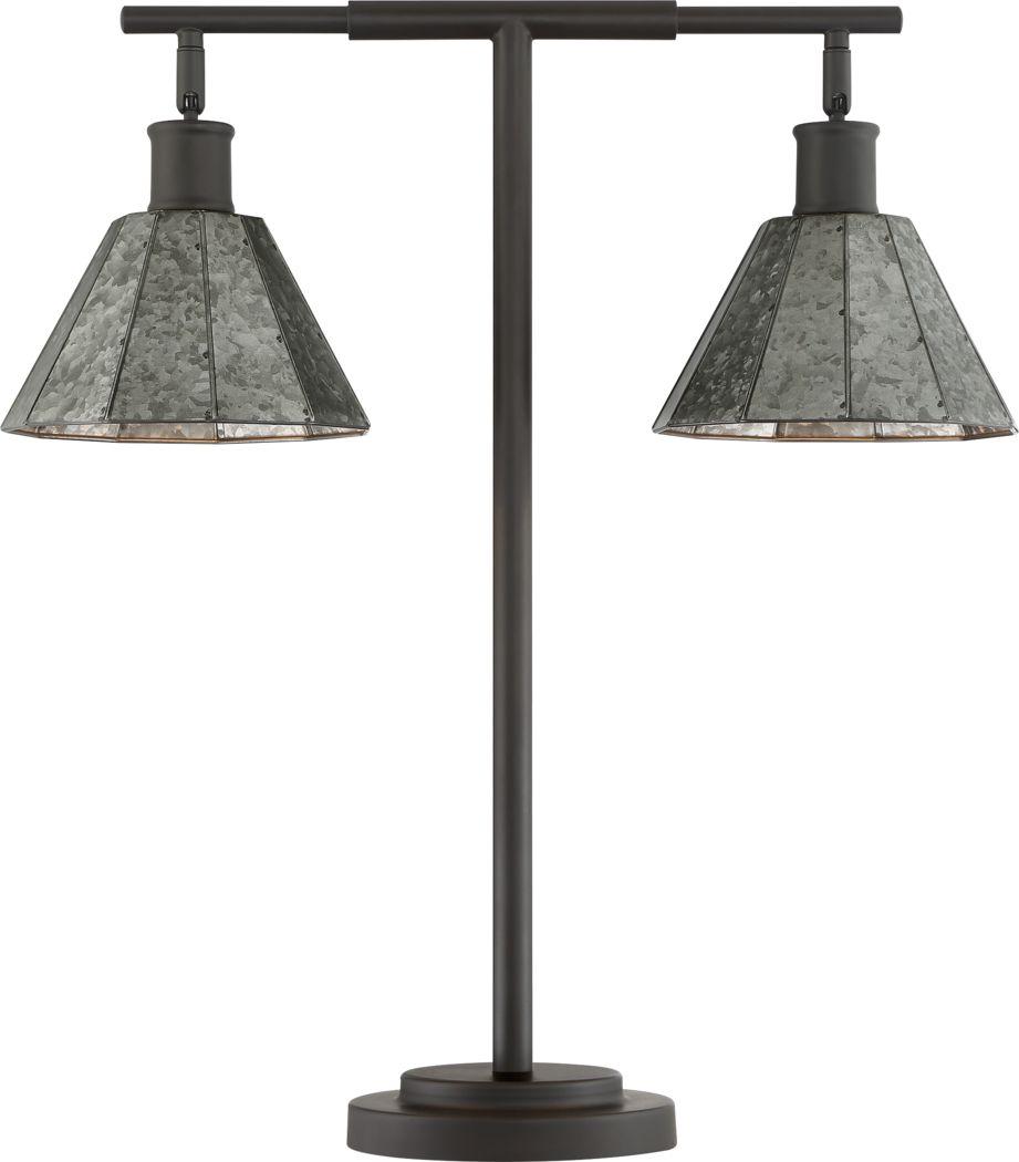 Oakridge Court Gray Lamp