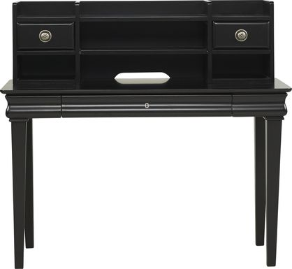 Kids Oberon Black Desk & Hutch