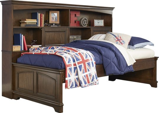 Oberon Cherry 3 Pc Full Bookcase Daybed