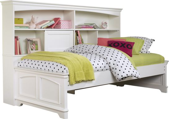 Oberon White 3 Pc Twin Bookcase Daybed