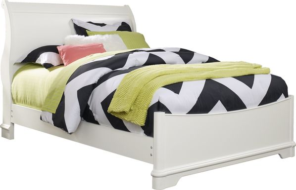 Kids Oberon White 3 Pc Twin Sleigh Bed