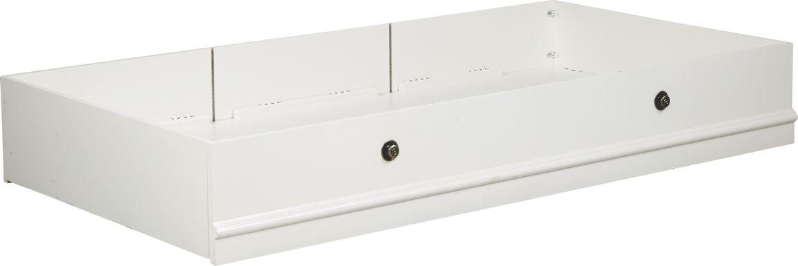 Oberon White Twin Storage Trundle