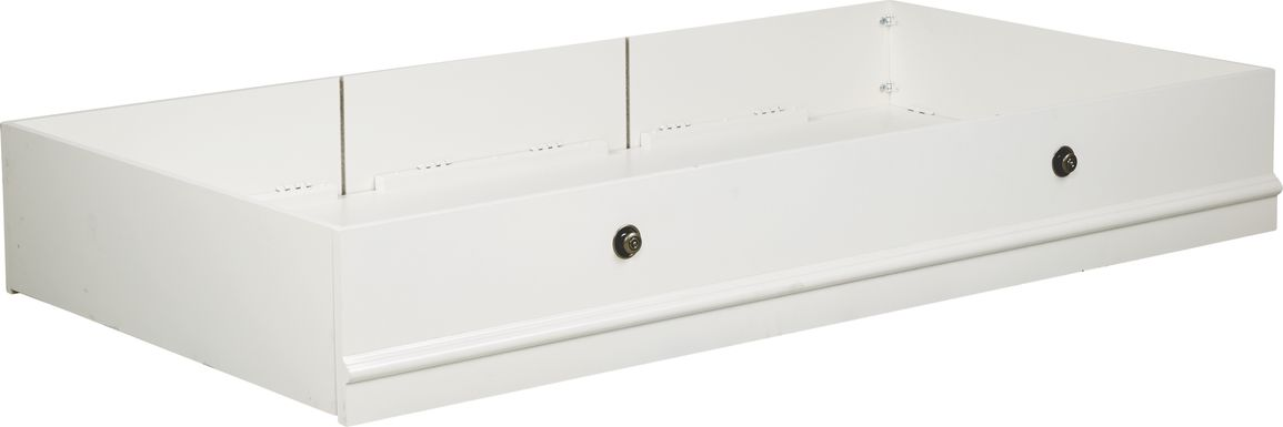 Oberon White Twin Storage Trundle