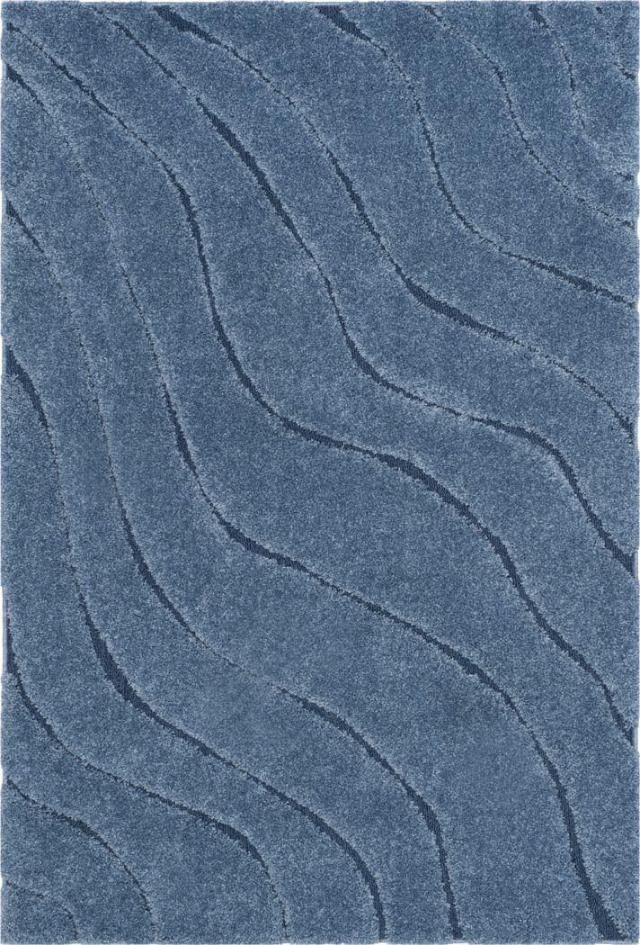 Ocean Gray Blue 6' x 9' Rug