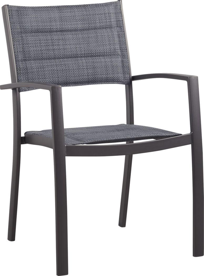 Ocean Tide Gray Outdoor Arm Chair